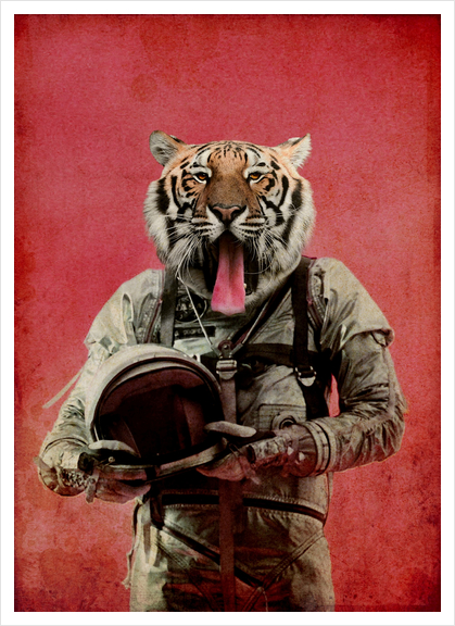 Space tiger Art Print by durro art