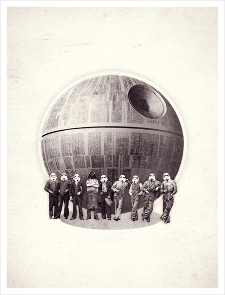 Death Star Art Print by Oleg Borodin