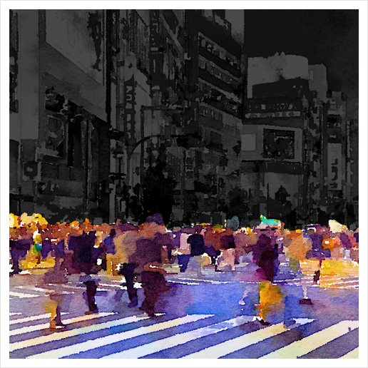 One evening in Tokyo Art Print by Malixx