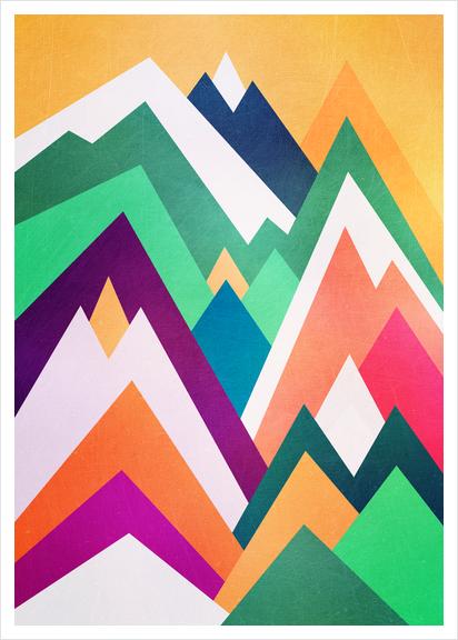 Summer peaks Art Print by Elisabeth Fredriksson