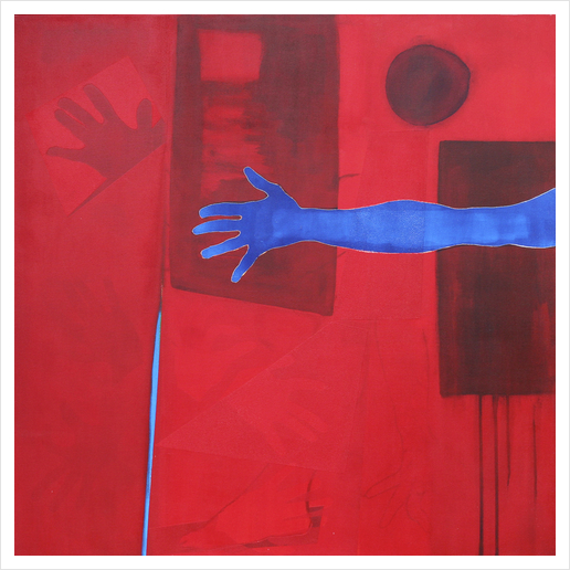 The Blue Hand Art Print by Pierre-Michael Faure