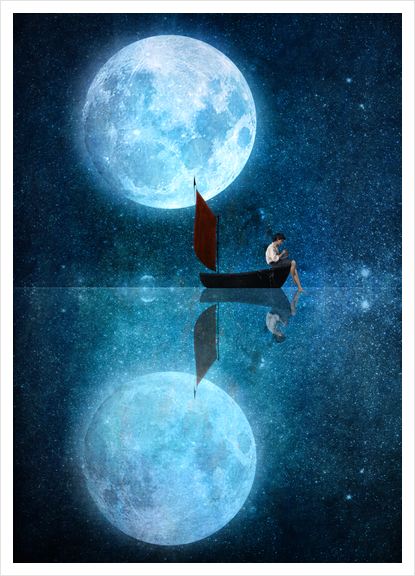 The Moon And Me Art Print by DVerissimo