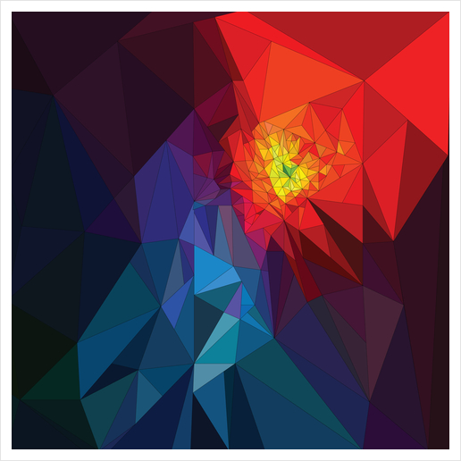 Colorful Triangles Art Print by PIEL Design