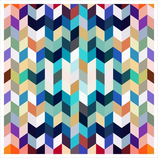 Colorful Geometric Background Art Print by Amir Faysal