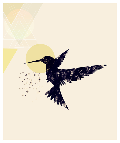 Bird X Art Print by Amir Faysal