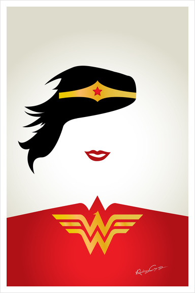 WONDER WOMAN Art Print by Roberto Caporilli