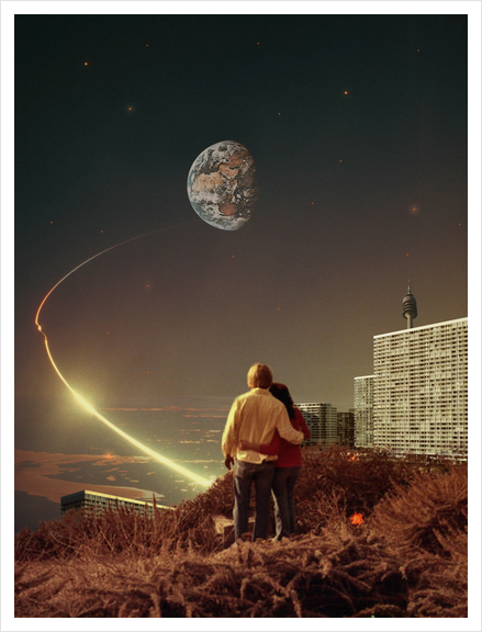 We Used To Live There, Too Art Print by Frank Moth