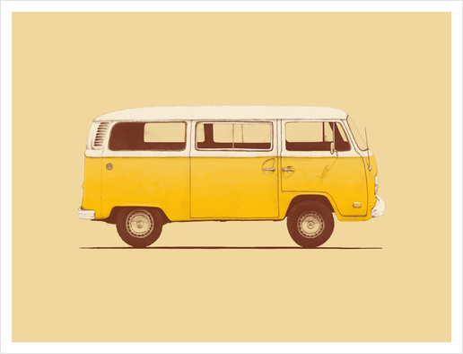 Yellow Van Art Print by Florent Bodart - Speakerine