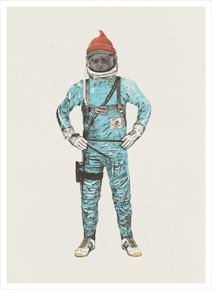Zissou In Space Art Print by Florent Bodart - Speakerine