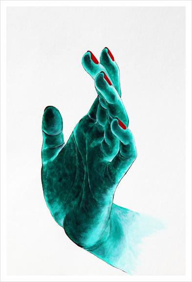 Hand Art Print by Nika_Akin