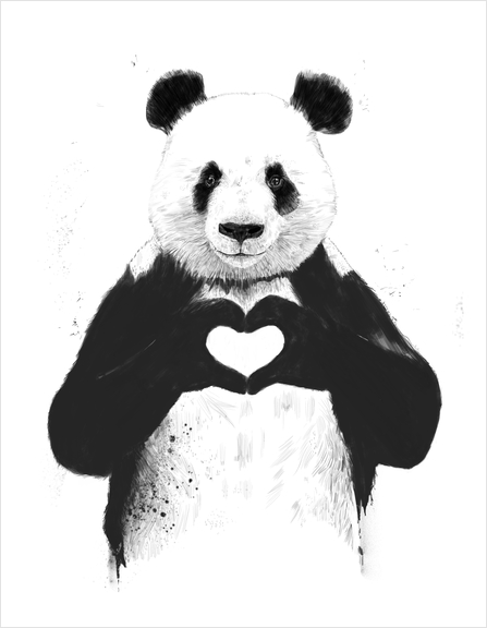 All you need is love Art Print by Balazs Solti