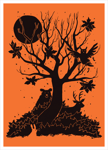 Autumn Forest Art Print by Tobias Fonseca
