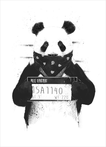 Bad panda Art Print by Balazs Solti