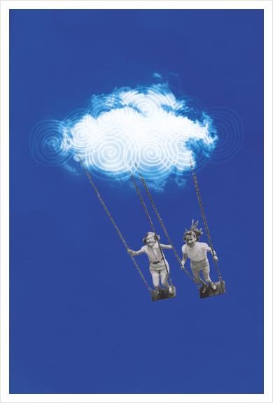 V&C in the sky Art Print by tzigone