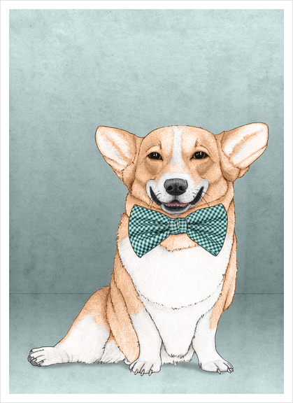 Corgi Dog Art Print by Barruf