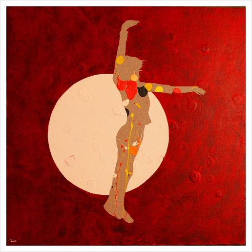 Dancing In The Moon Art Print by Pierre-Michael Faure
