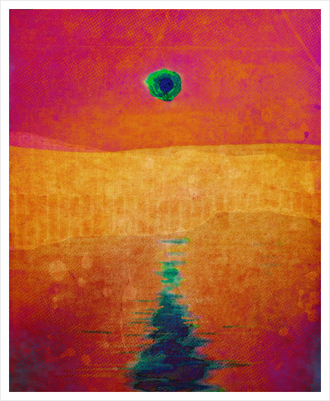 Red Eclipse Art Print by Malixx