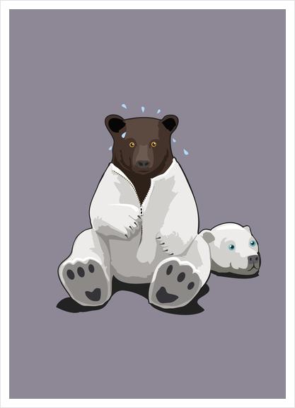 Fake Bear Art Print by Alex Xela