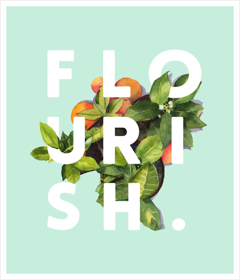 Flourish Art Print by Uma Gokhale