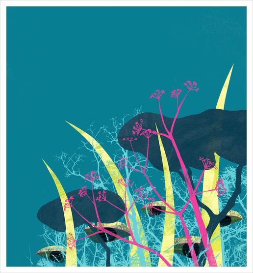 la foresta di circe Art Print by junillu