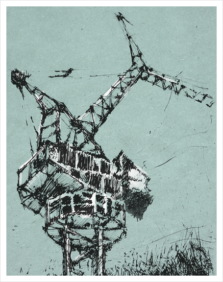 Crane Art Print by Georgio Fabrello
