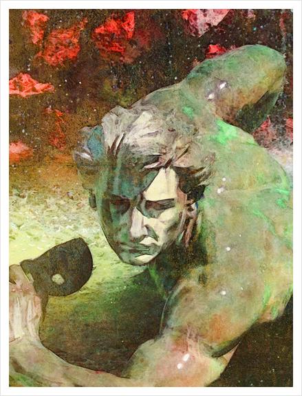 l'homme au masque Art Print by Malixx