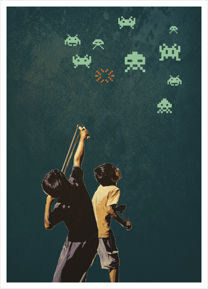 Invaders! Art Print by tzigone