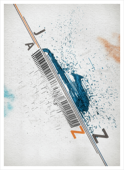 Jazz Festival Art Print by cinema4design