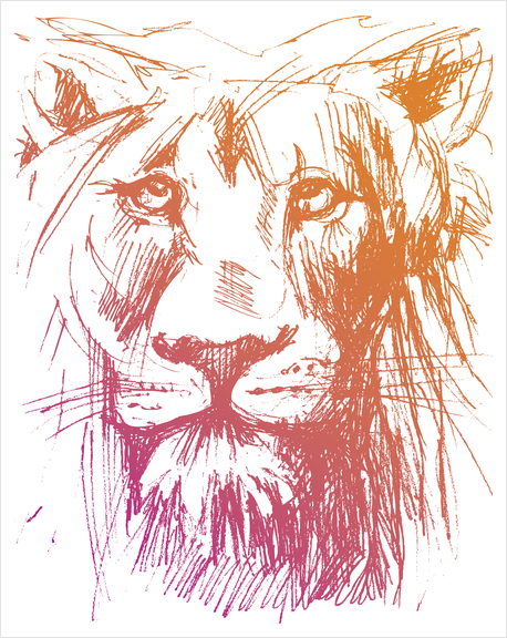 Lion Art Print by Georgio Fabrello