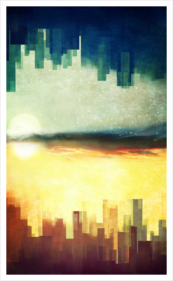 Parallel Cities Art Print by DejaReve