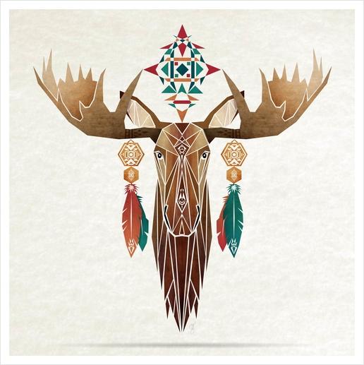 moose Art Print by Manoou
