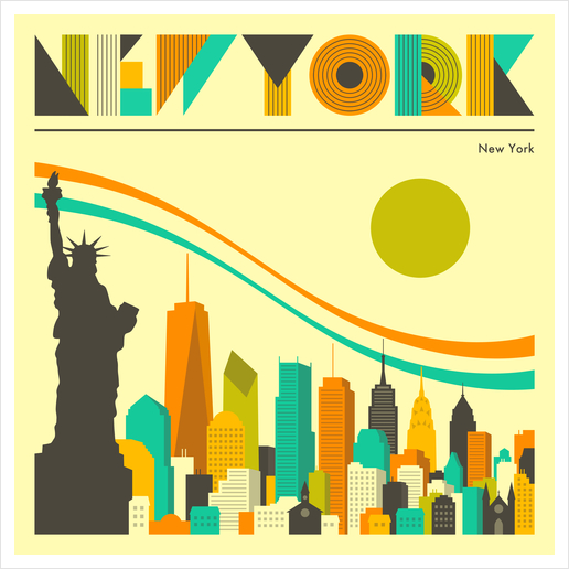 NEW YORK Art Print by Jazzberry Blue