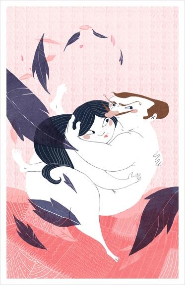 Nuit d'amour Art Print by Florehenocque