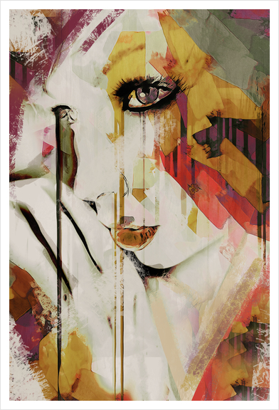Abstract Portrait - Pages Art Print by Galen Valle