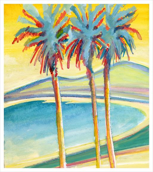 Palm Tree on the French Riviera Art Print by Georgio Fabrello