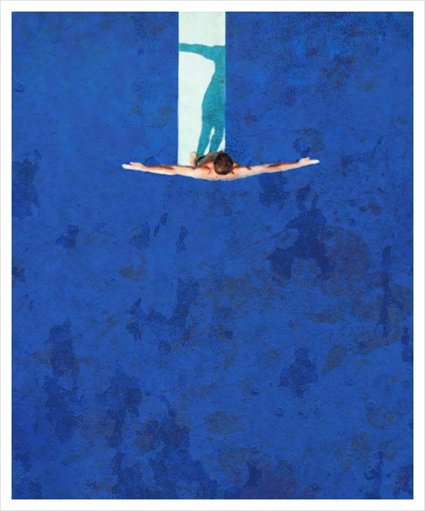 Le Plongeoir Art Print by Malixx