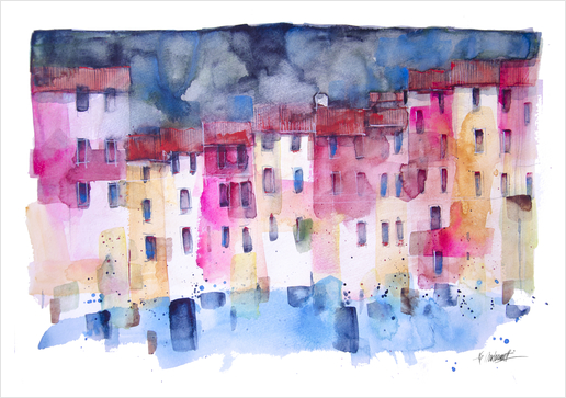 Portofino Art Print by andreuccettiart