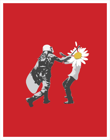 Flower Riot Art Print by tzigone