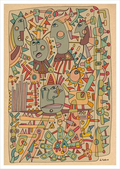 - schematic - Art Print by Magdalla Del Fresto