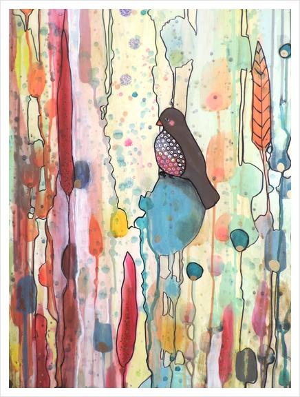Se Laisser Porter Art Print by Sylvie Demers