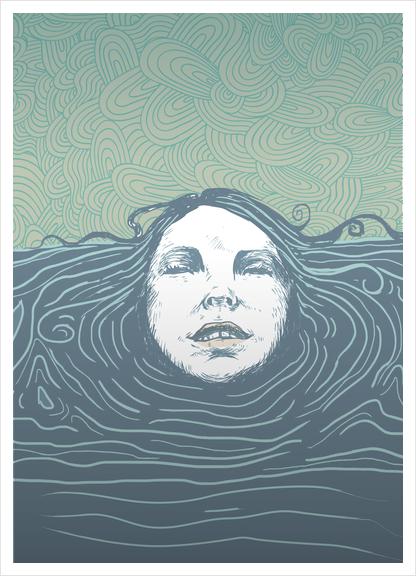 Sea-face Art Print by tzigone