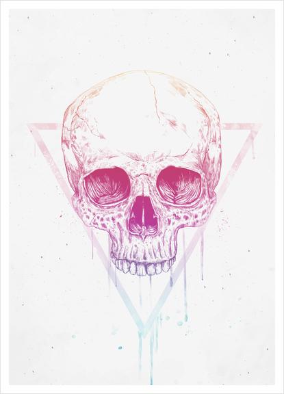 Skull in triangle Art Print by Balazs Solti