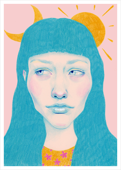 The sun and the moon Art Print by natalie foss