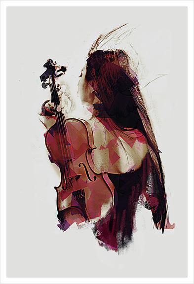 Violin Art Print by Galen Valle