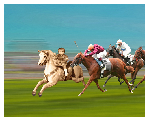 The Race Art Print by tzigone