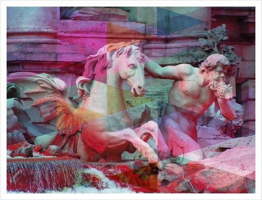 Trevi Fountain Art Print by Vic Storia