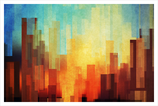 Urban Sunset Art Print by DejaReve