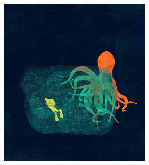 the visitor Art Print by junillu