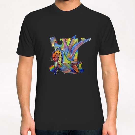 Foule multicolore T-Shirt by Denis Chobelet