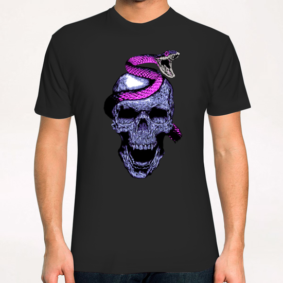 Skull and Snake T-Shirt by Jordygraph